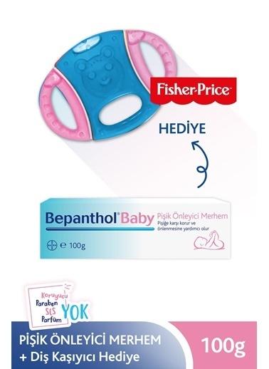Bepanthol Baby Pişik Merhemi 100Gr + Fisher Price Pembe-Mavi Diş Kaşıyıcı Hedıye ! Renksiz